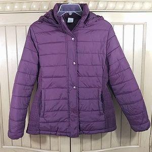 Time&Tru Purple Puff Jacket, sz XS (0-2)